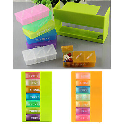 Medicine Weekly Storage Pill 7 Day Tablet Sorter Box Container Case Organizer