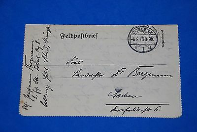 1918 World War German Captain Field Post Vintage Card old Letter WWI Antique 109