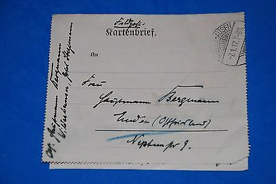 1918 World War German Captain Field Post Vintage Card old Letter WWI Antique 108