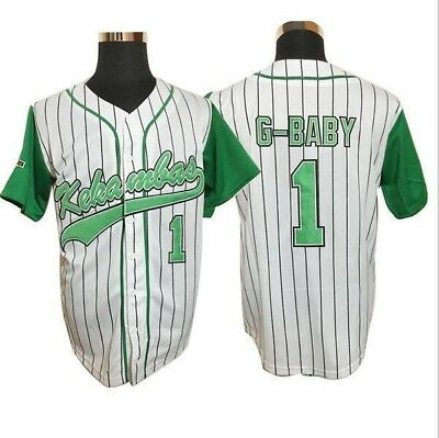 Jarius 'G-Baby' Evans #1 Kekambas Baseball Jersey Includes Patch Stitched White