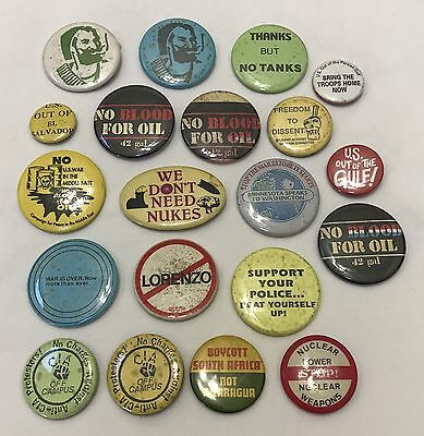 Lot of Vintage Peace & Anti-War Protest Political Movement Pins (RF644-3)