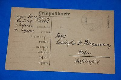 1918 World War German Captain Field Post Vintage Card old Letter WWI Antique 102