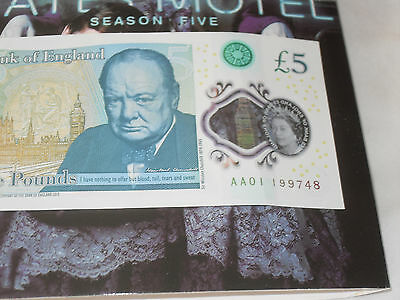 Aa01 199748 Early New Polymer £5 Low Number.