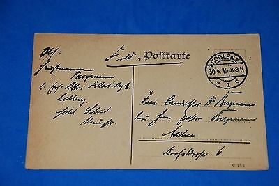 1918 World War German Captain Field Post Vintage Card old Letter WWI Antique c99