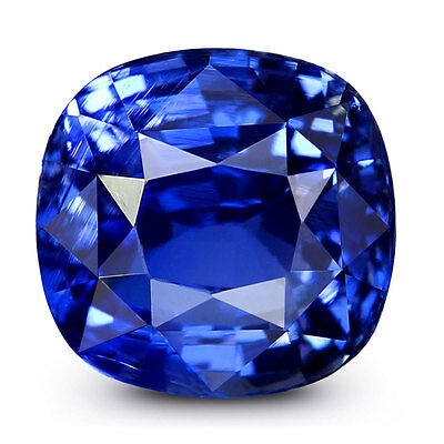 100%Natural 3.05Cts.Nice Vivid Royal Blue Ceylon Sapphire Cushion Cut Gemstone