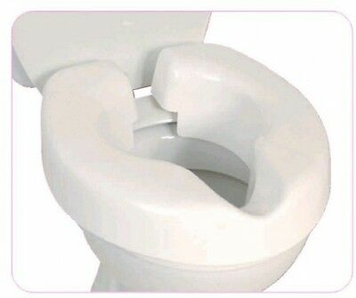 Portable Clip-On Raised Toilet Seat Smooth Design Convenient Travel NEW