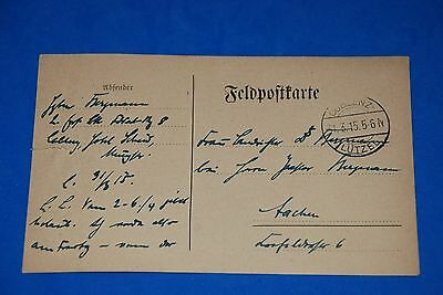 1918 World War German Captain Field Post Vintage Card old Letter WWI Antique c91