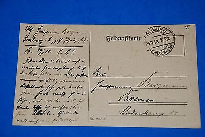 1918 World War German Captain Field Post Vintage Card old Letter WWI Antique c89