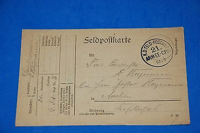 1918 World War German Captain Field Post Vintage Card old Letter WWI Antique c88