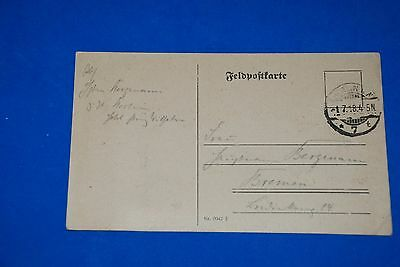 1918 World War German Captain Field Post Vintage Card old Letter WWI Antique c87