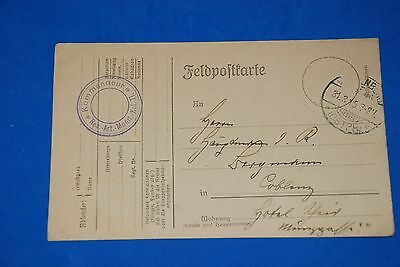 1918 World War German Captain Field Post Vintage Card old Letter WWI Antique c86
