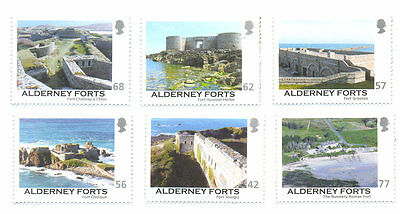Alderney Forts (22.7.2015)mnh set of 6- Military