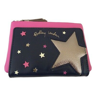"Radley Medium Navy & Pink Purse - ""Night Shift"" - RRP £49 - NEW - Gift Boxed"