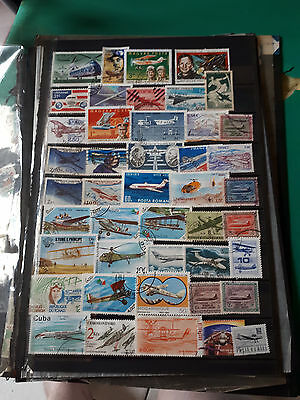 44 timbres avions (lot XR)