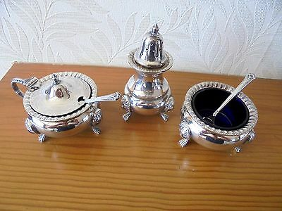 Lovely Vintage Silver Plated Cruet Set