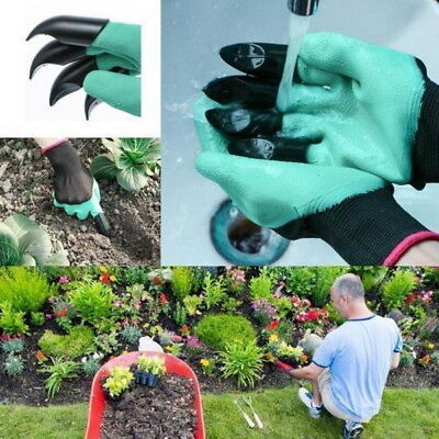 Garden Gloves for Digging & Planting with 4 ABS Plastic Claws Durable Waterproof