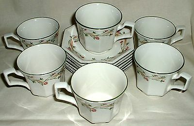 Johnson Brothers Eternal Beau 6 Cups And Saucers