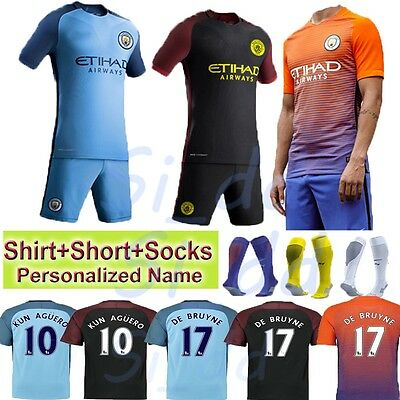 2017 Youth Soccer Outfit Jersey Football Team Suit Home Kit Shirt 3-14 Years