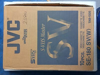 JVC SV(W) VHS - New pack of 10 in original packaging