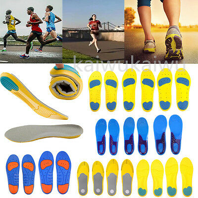 Men Women Sport Running Shoe Pad Orthotic Insoles Insert Arch Support Cushion
