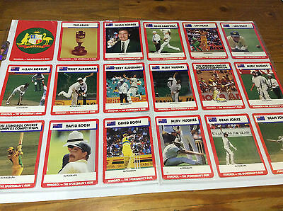 1990/91 Scanlens Stimorol Cricket Trading Cards (84)-Full Set-Mint Cond