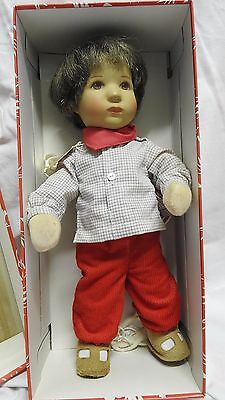 Kathe Kruse Dolls World Famous Fabric Dolls Dressed Hard Face Realist Boy Doll