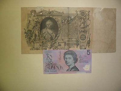 Xxx Large & Rare Antique 100 Rouble Russian  Banknote 1910(Low Grade)