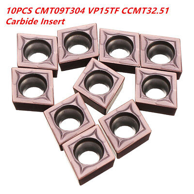 10PCS CCMT09T304 VP15TF CCMT32.51 Carbide Insert Blade In Box 14mm