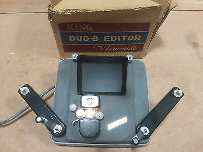 KING DUO-8 EDITOR VIEWMATE- BOXED - 8mm - TESTED WORKING - PROP