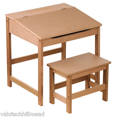 Premier Housewares 2-piece Children's Table and STOOL Set NATURAL WOOD