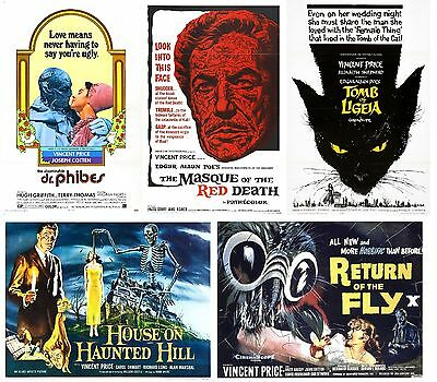 Vincent Price - A4 Laminated Mini Movie Posters - Buy 4 Get 1 FREE!