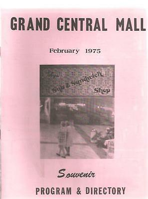 v - Vintage February 1975 GRAND CENTRAL MALL Vienna Parkersburg WV Directory &