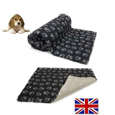 Charcoal Grey Paws Vet Bedding NON-SLIP ROLL WHELPING FLEECE DOG PUPPY PRO BED