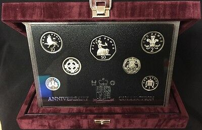 Great Britain 1996 Silver Proof Set 25th Anniversary Collection