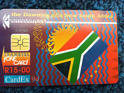 South Africa - Transtel phonecard for CardEx 1994 Amsterdam