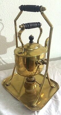 ANTIQUE Victorian era AESTHETIC MOVEMENT BRASS SPIRIT KETTLE by SOUTTER & SON's