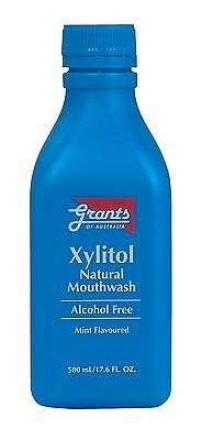 Grants Xylitol Natural Mouthwash (500ml) Natural Protection for Teeth