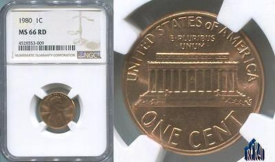 MS-66RED NGC 1980-P ULTRA-GEM PROBLEM FREE LINCOLN CENT!   ((No ReSeRvE))