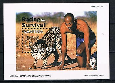 Namibia Mnh 1998 Sg Ms801 Racing For Survival Minisheet