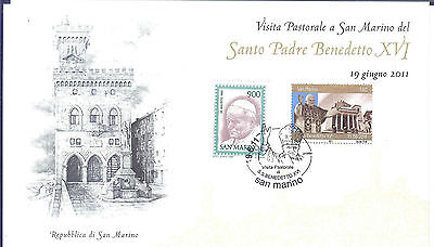 SAN MARINO Large Card 19-06-2011 VISIT OF POPE BENEDETTO XV1...