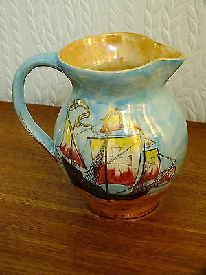 Arthur Wood Royal Bradwell Ships Galleon Large Jug