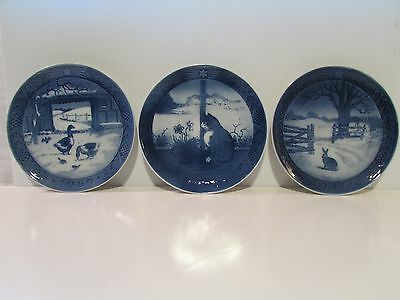 Royal Copenhagen Christmas plates years : 1969,1970,1971