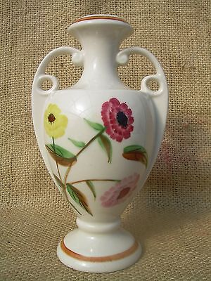 "Blue Ridge Southern Potteries 8"" Vase~Urn Shape~Handled~Mum Spray Floral~Euc"