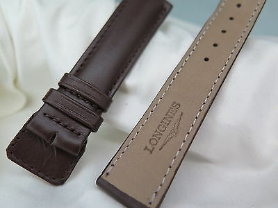 21Mm Longines Brown Leather Watch Strap