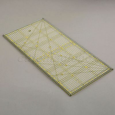 Transparent Sew Easy Rectangle Quilting Quilters Craft Patchwork Ruler 30*15cm