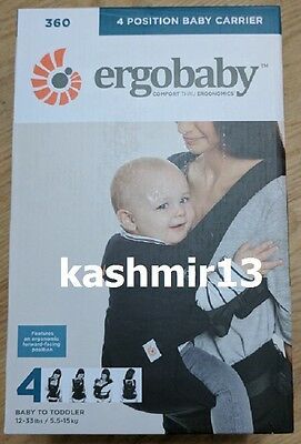 Genuine Ergobaby 360 Four Position Baby Carrier - BC360ABLK - BLACK - Brand New