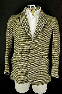 "Dunn & Co Harris Tweed 2 BOTTONI GIACCA 38"" CORTO Slant TASCA"