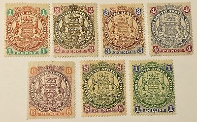 1896 Coat of Arms British South Africa Company Rhodesia Stamps Unused