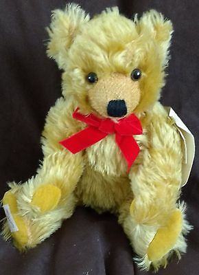 "Deans Mohair Teddy Bear - Walter - 16"" - New - Hand Signed By Neil Miller"