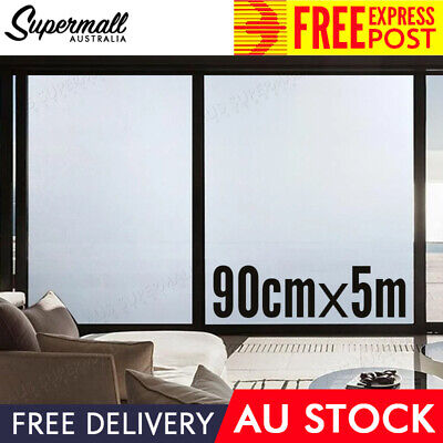 (Free Express) 90cm x 5M  Window Glass Film Paper Privacy Frosted Removable AU